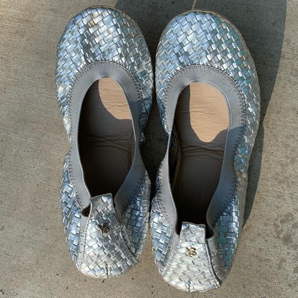 Yosi Samra Silver Ballet Flats size 7